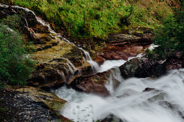 Waterfall, Glacier National Park, Montana, Canada, United States of America