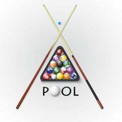 Pool billiards background