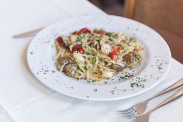 food, basil, plate, cultures, spageti, spaghetti
