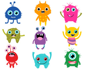 Cute cartoon monsters