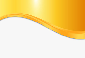 Abstract gold background with smooth lines. Gold and white vector background
