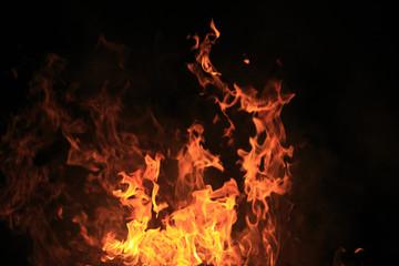 Deurstickers Vuur 炎