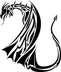 the dragon wings tattoo