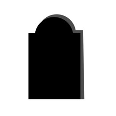 Tomb stone icon in single color.
