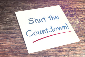 Start The Countdown Reminder On Paper On Wooden Table
