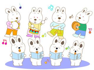 ウサギのコンサート