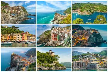 Landscape Liguria Collage, Italy, Europe