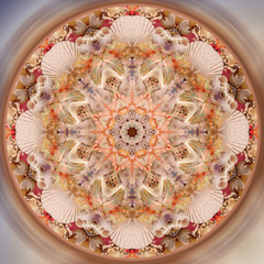 Abstract fractal mandala picture