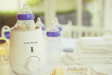 Bottle warmer and baby food warmer with Copy Space
