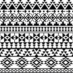Seamless black Navajo print, Aztec pattern, Tribal design