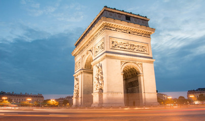 The Triumphal Arch in the early morning, Paris.