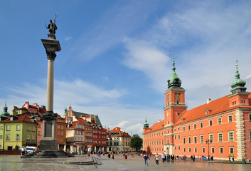 Old Warsaw town  royal castle