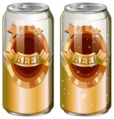 Two cans of beer