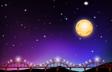 Fullmoon night over the bridge