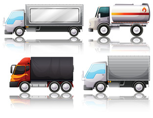Four types of trucks
