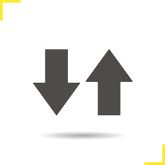 Up and down arrows icon
