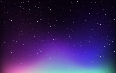 Background design with stars in the sky