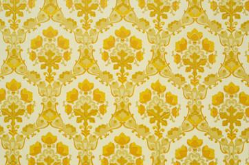 Alte Tapete in Omas Haus altmodisches Muster Vintage Kult Tapete Umzug und Renovierung