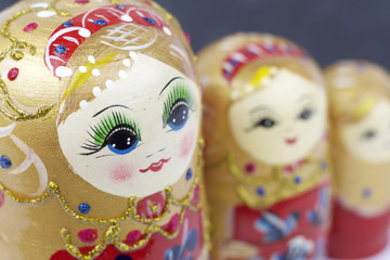 Russian traditional dolls Matrioshka - Matryoshka  or Babushka