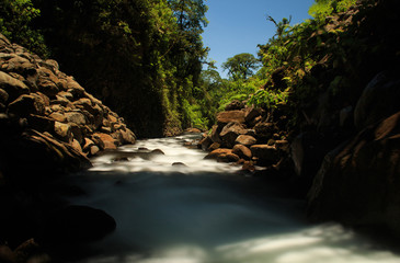 A river in near of the La Paz waterfall in Costa Rica.