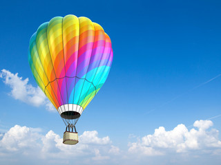 hot air balloon - 3d illustration