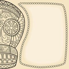 Mexican sugar skull frame. Halloween frame.