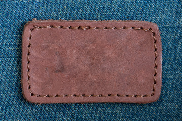 Classic leather tag