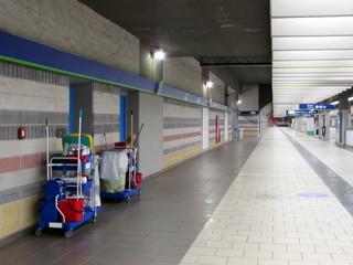 Pulizia in stazione