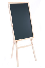 Wooden blackboard isolated