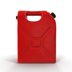 Red Petrol Jerry Can isolated on white 3D Illustration