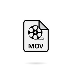 Mov file on white background vector
