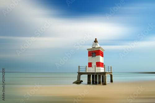 Leuchtturm Am Strand Von Lignano Sabbiadoro Italien Stock Photo