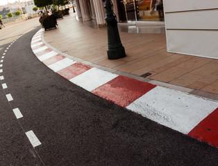 Car race asphalt