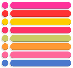 Flat blank icon empty internet color button