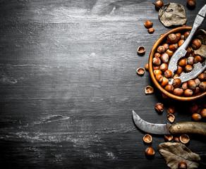 Hazelnuts in a bowl