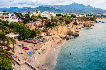 Little touristic town Nerja in Spain