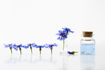 Smoothing toner water and cornflowers