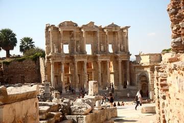 Ancient Greek Library Complex in Ephesus Turkey