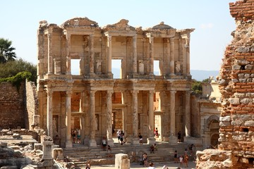 Ancient Greek Library Complex in Ephesus Turkey
