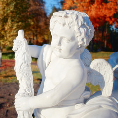 Garden marble statue of angel