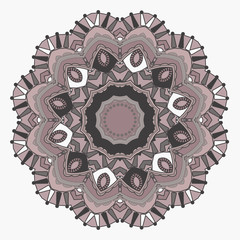 Mandala with geometric elements. Ethnic mandala with colorful or