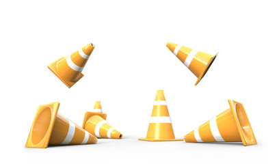 Traffic cone object isolated Concept and Background