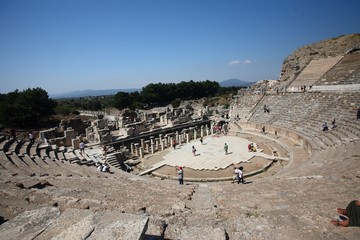 Greek Amphitheatre in Ephesus Turkey