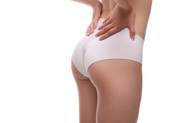 sexy body in white underwear