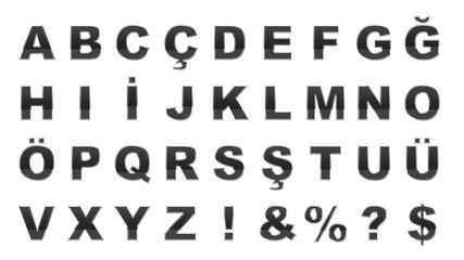 Metalik Harfler - Metallic Letters