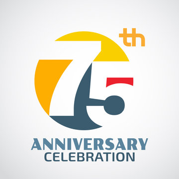 Template Logo 75th anniversary with a circle and the number 75 i