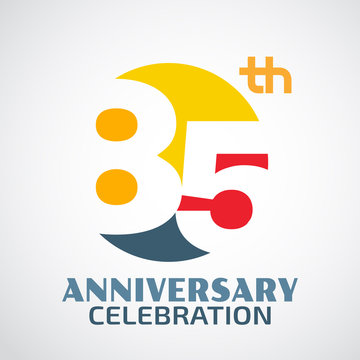 Template Logo 85th anniversary with a circle and the number 85ac