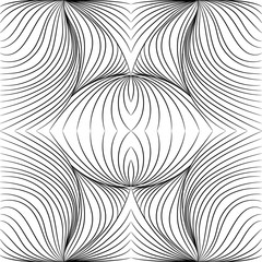 Seamless Pattern. Striped background. Repeating black-white wallpaper. Vintage seamless lines