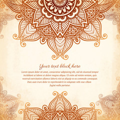 Vintage tribal style lacy abstract background