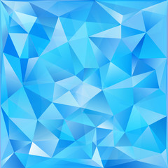 Blue glass triangles abstract vector background